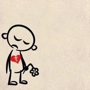 desenho coração partido