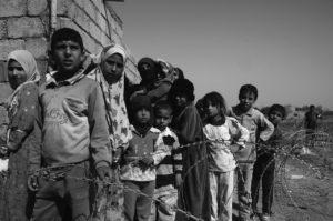 foto de refugiados de guerra